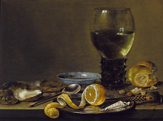 "Willem Heda, ""Still Life with a Roemer, Bread and a Lemon"", c 1640-43. Private Collection"