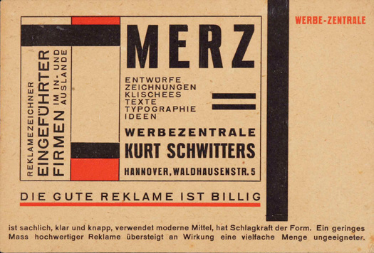 Postcard for Merz Werbezentrale