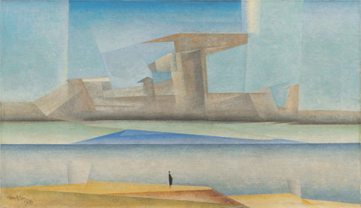 "Lyonel Feininger, ""Untitled (The Island)"", 1923. Private collection. Courtesy Moeller Fine Art, New York © The Lyonel Feininger Project, Nueva York-Berlin"