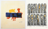 "Ilustraciones de Henry Moore, de la carpeta ""Meditations on the Effigy"", 1968"