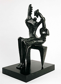 "Henry Moore, ""Mother and Child, "" [Madre e hijo], 1953. Colección particular. © The Henry Moore Foundation, Hertfordshire"