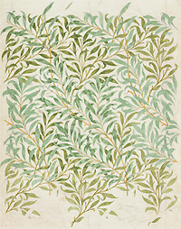 William Morris, Dibujo para el papel pintado Willow Bough, 1887. The Whitworth, The University of Manchester. Foto: Michael Pollard