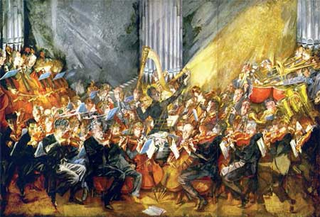 La orquesta moderna todos tocan juntos la historia de - Pintura instinto ...