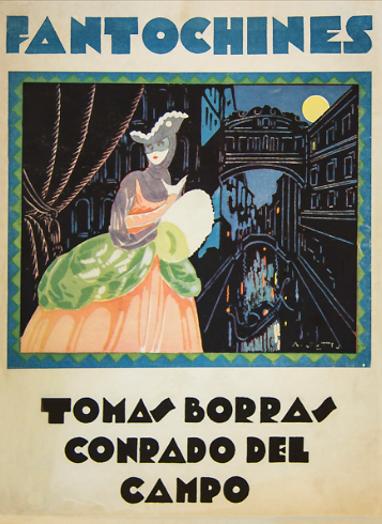 Cubierta del texto de Fantochines, de Tomás Borrás