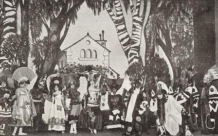 """""""El sapo enamorado"""". Teatro Eslava, 1916. Trajes y diseños del decorado de José Zamora"""