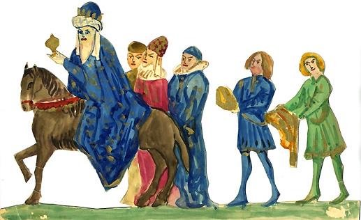 """Figuras planas realizadas por Hermenegildo Lanz para la función de """"Títeres de cachiporra"""" organizada junto a Federico García Lorca y Manuel de Falla, el 6 de enero de 1923. Archivo Lanz. Fotografía: Enrique Lanz."""
