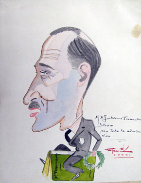 Guillermo Fernández Shaw. Caricatura Argiles